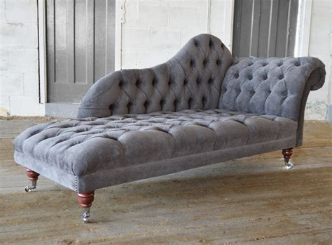 A Chaise Longue by Naples Velvet Chesterfield Chaise Lounge Abode Sofas