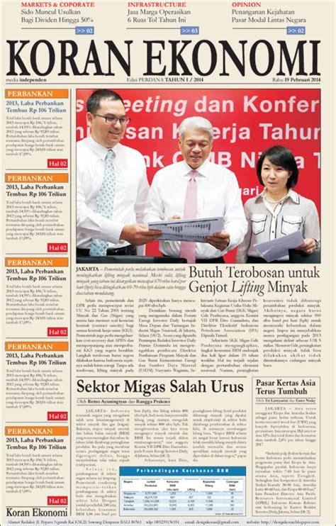 layout koran dengan corel template desain koran dengan coreldraw