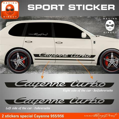 Seitenstreifen Aufkleber Porsche by Cayenne Turbo Seitenaufkleber Seitenstreifen Aufkleber