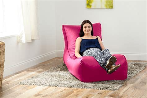 bean bag chaise longue pink faux leather lounger beanbag big bean bag sofa