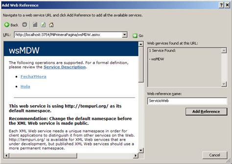 tutorial net web service tutorial asp net trabajando con xml y web services
