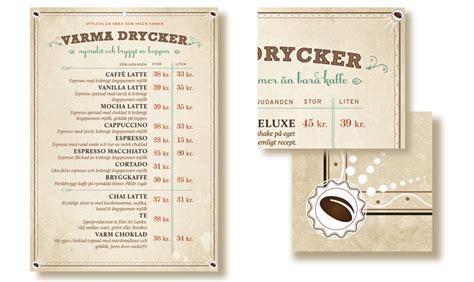menu design norway espresso house holidesign