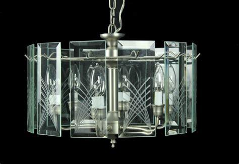 Glass Panel Chandelier Brand New 6 Light Retro 12 Glass Panel Chandelier Light Pewter Reg 99 Ebay