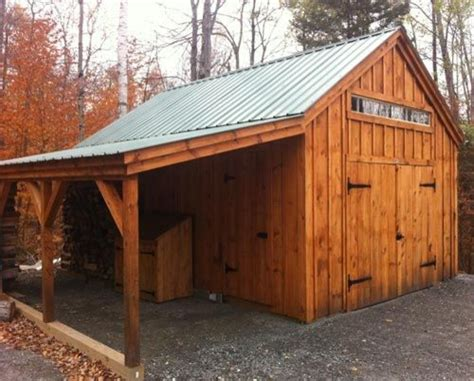 shed garden farm kits 14 x 20 one bay garage traditional garage and shed