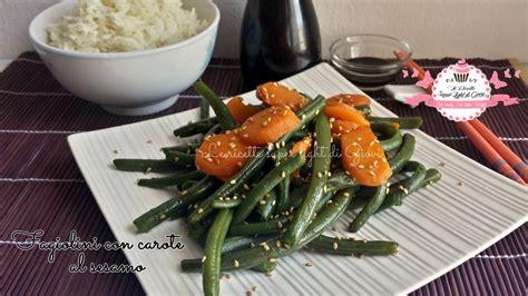cucina cinese calorie fagiolini con carote al sesamo ricetta cinese 146