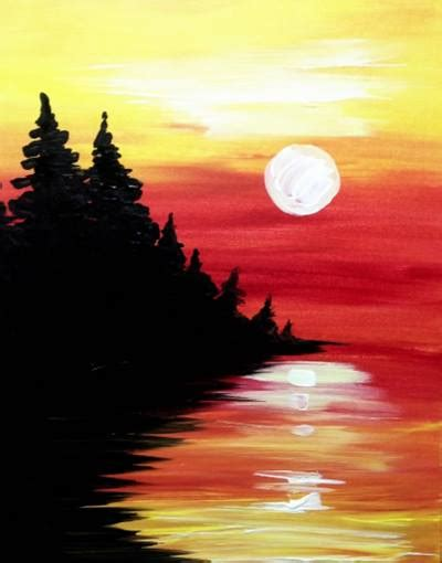 paint nite kalamazoo paint nite arbor pine lake at sunset arbor