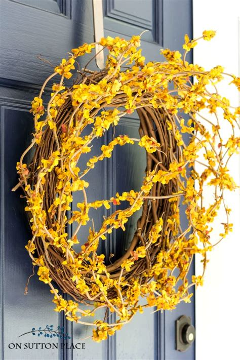 diy front door fall wreath fast easy  sutton place