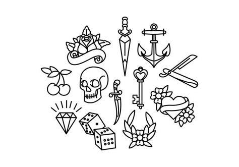 old tattoo vectors download free vector art