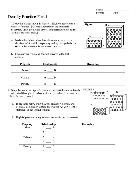 Unit 1 Worksheet 4 Applied Density Problems Answers by Chemistry Unit 1 Test Answers Introuction To The