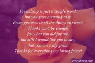 Thank You Letter Friend Quotes Thank You Notes For Friends