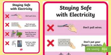 staying safe with electricity poster safety electricity