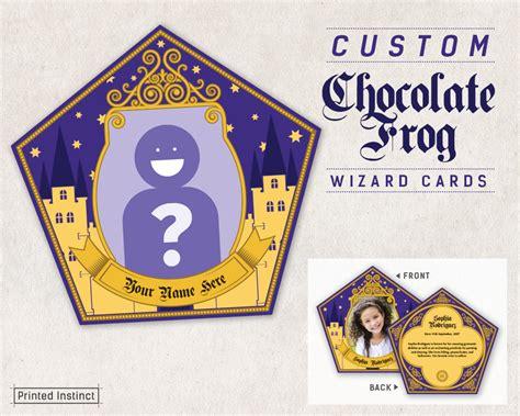 chocolate frog card template harry potter custom printable chocolate frog cards