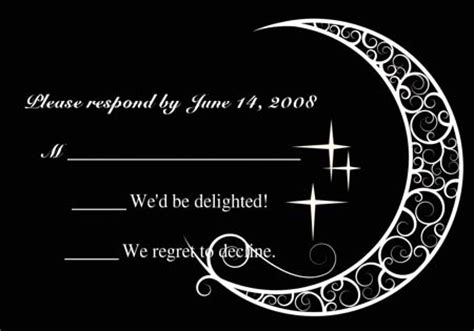 moon invitation card template printable black and white moon and wedding