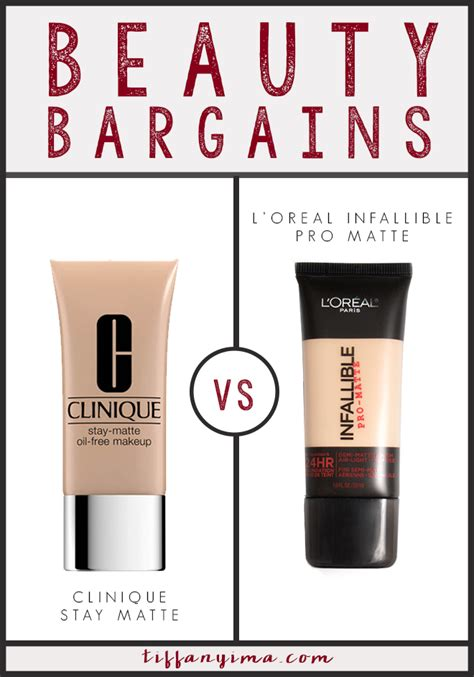 Clinique Stay Matte Foundation clinique stay matte vs l oreal infallible pro matte