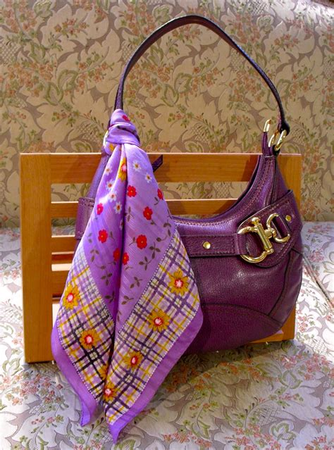 how to tie and wear a scarf on a purse or bag from