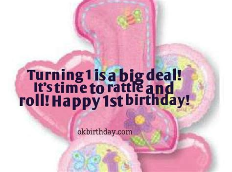 1st Birthday Quotes Turning 1 Is A Big Deal Birthday Wishes Quotes
