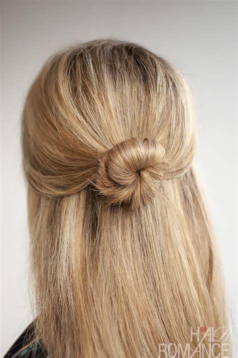 hairstyles half up bun 30 buns in 30 days day 5 half up bun hairstyle hair