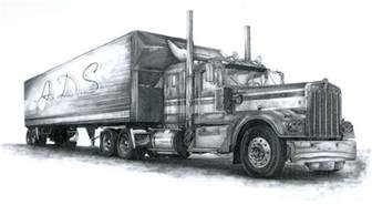 gallery for gt drawings of semi trucks