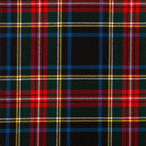 scotch plaid stewart black modern medium weight tartan fabric