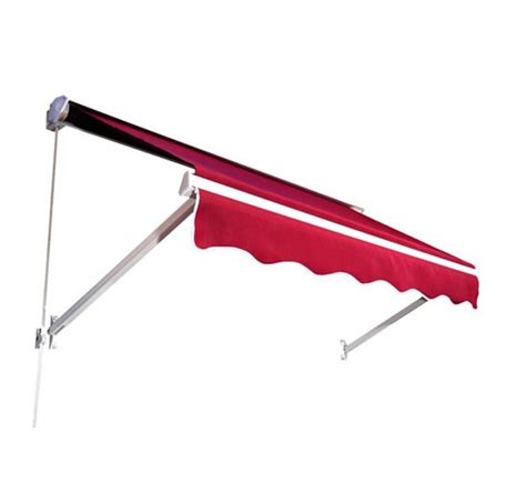 awning red outsunny 6 drop arm retractable window awning red