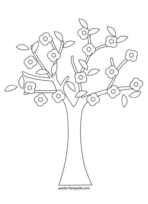 tree coloring pages pdf spring tree coloring pages printable easter template