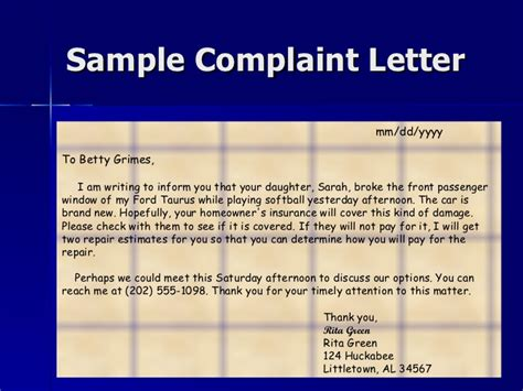 Complaint Letter To Ford Company Letter Writing