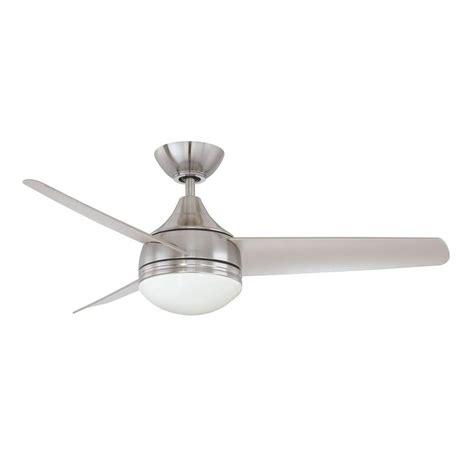 Satin Nickel Ceiling Fan by Filament Design Cassiopeia 42 In Satin Nickel Indoor