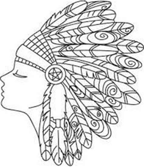 indian headdress coloring sheet native american indian chief headdress tattoo work