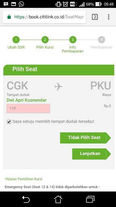 citilink web check in cara check in pesawat citilink online lengkap kusnendar