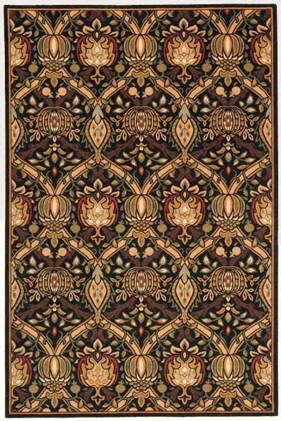 William Morris Rugs Reproductions by William Morris Rugs Reproductions 10x13 William Morris Arts Crafts Mission Style Black Wool