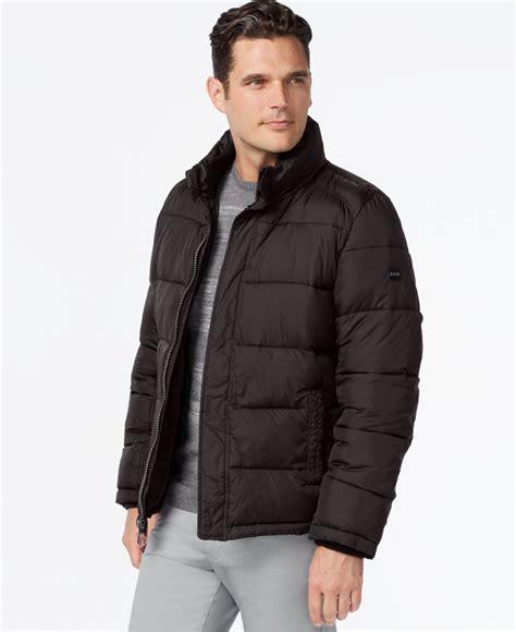 Jacket Calvin calvin klein big s puffer coat in gray for lyst