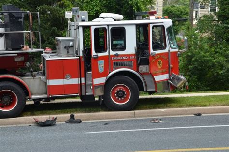 truck in baltimore baltimore county apparatus collides with car in towson
