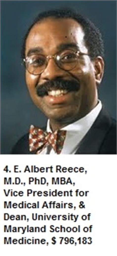 E Albert Reece Md Phd Mba by College Of Maryland