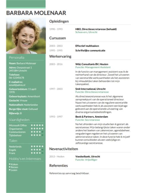 Cv Sjabloon Word Downloaden Cv Opstellen Invullen En Direct Je Cv Downloaden Cv Nl