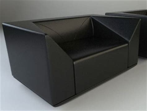 Furniture Max by Furniture Model Black Leather Sofa 3ds Max Model 3d Model