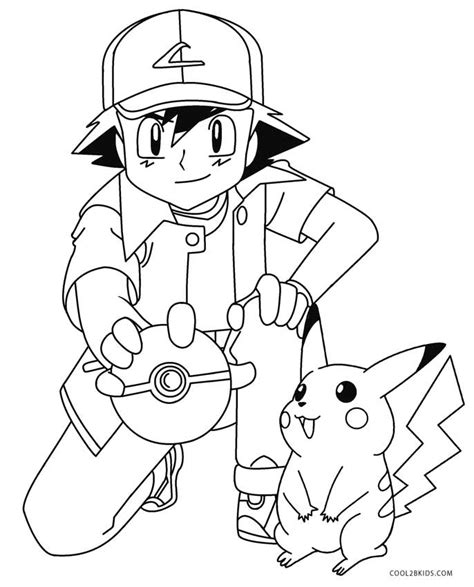 pikachu coloring pages ash and pikachu coloring pages www pixshark images