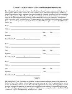 Credit Report Authorization Form Template best photos of credit authorization form template credit