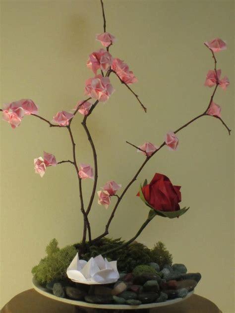 Cherry Blossom Origami Paper - origami ikebana flower floral paper cherry blossom