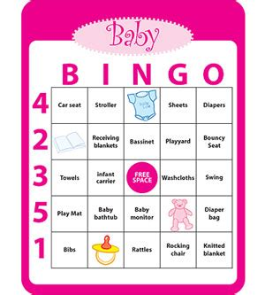 How Do You Play Baby Shower Bingo by Baby Shower C R A F T