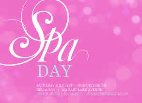 spa invitations templates free 1000 images about spa on spa