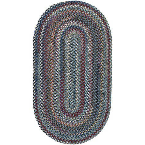 oval accent rugs capel bunker hill medium blue 20 in x 30 in oval accent
