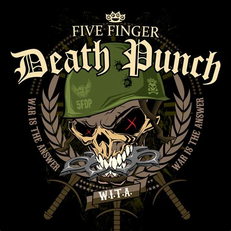 pin five finger death punch logo background wallpaper