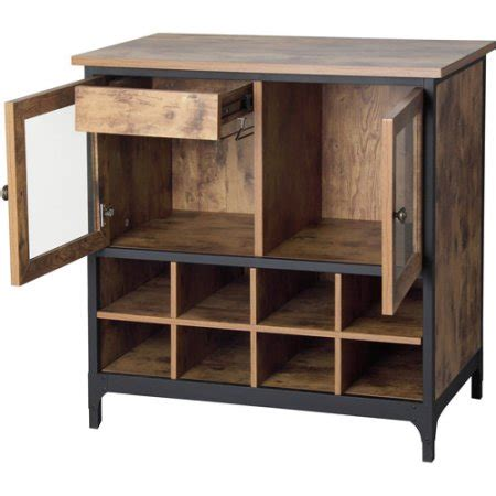 better homes and gardens storage cabinet home bar cabinet wine storage furniture liquor rack wood