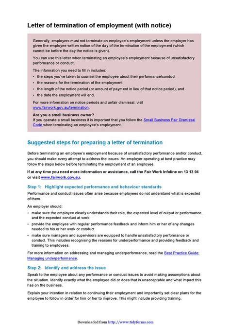 Finance Termination Letter employee termination letter free premium