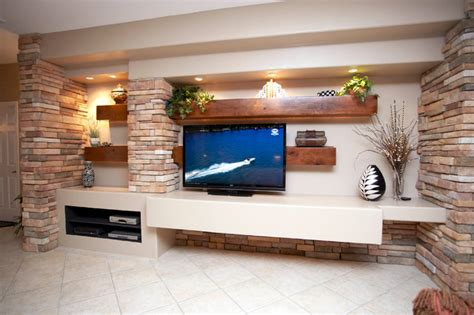 media walls living rooms media wall w alder beams and columns contemporary living room by