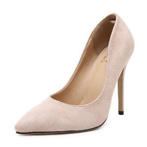 high heel pumps images beige suede pointed toe high heel pumps