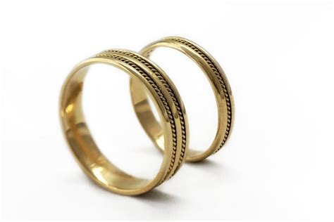 Handmade Bands - gold wedding ring sets braided bands wedding band for