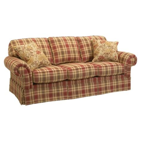 my new sofa erickson red green plaid hmmmm what