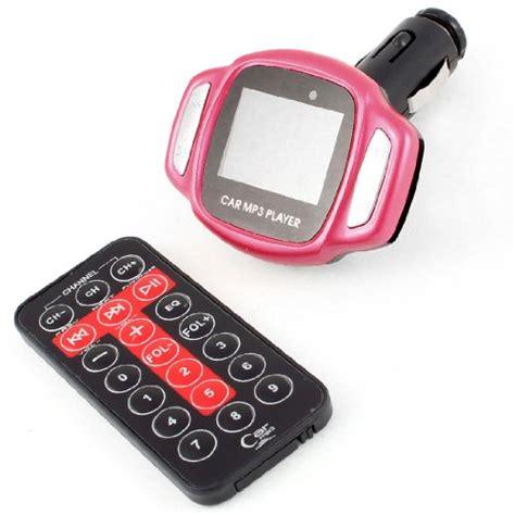 Diskon Mp3 Fm Modulator Pink Remote Slot Usb Sd Mmc car lcd screen remote mp3 player fm transmitter