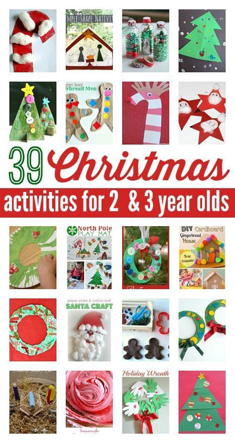 christmas activities 2 year olds and 3 years on pinterest